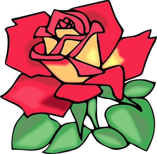 Red Rose clip art Free vector in Open office drawing svg ( .svg.