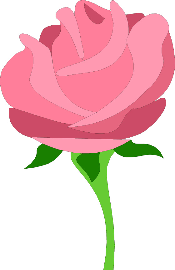 Pink Rose Clipart.