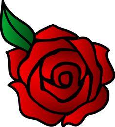 Magical Rose Clip Art.