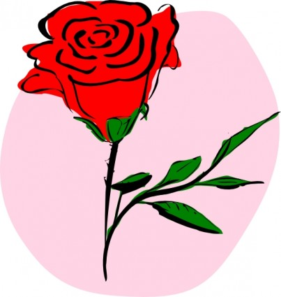 Red Rose clip art.