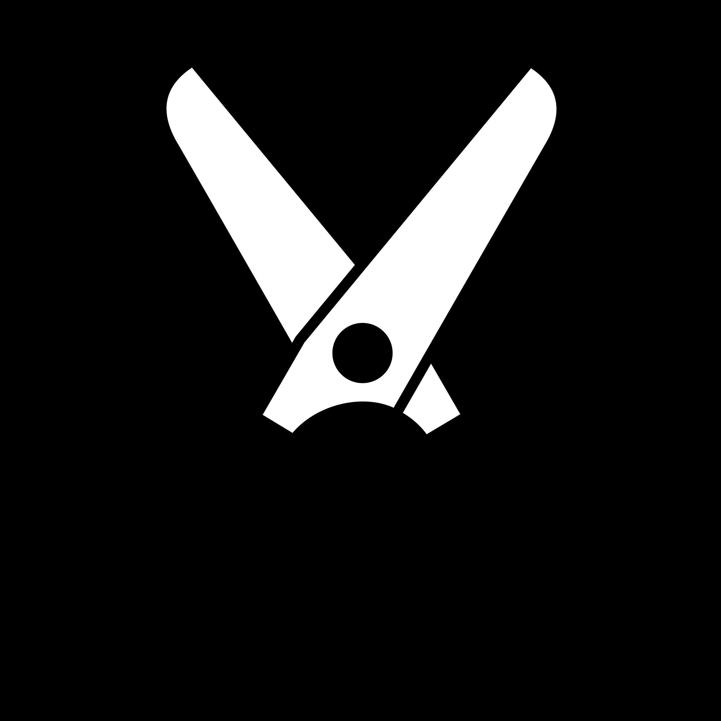 Open Scissors Clipart.