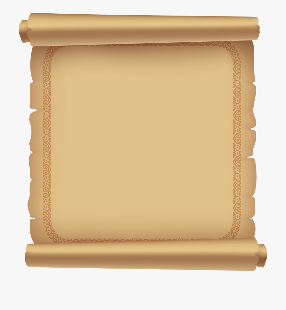Diploma Clipart Open Scroll.