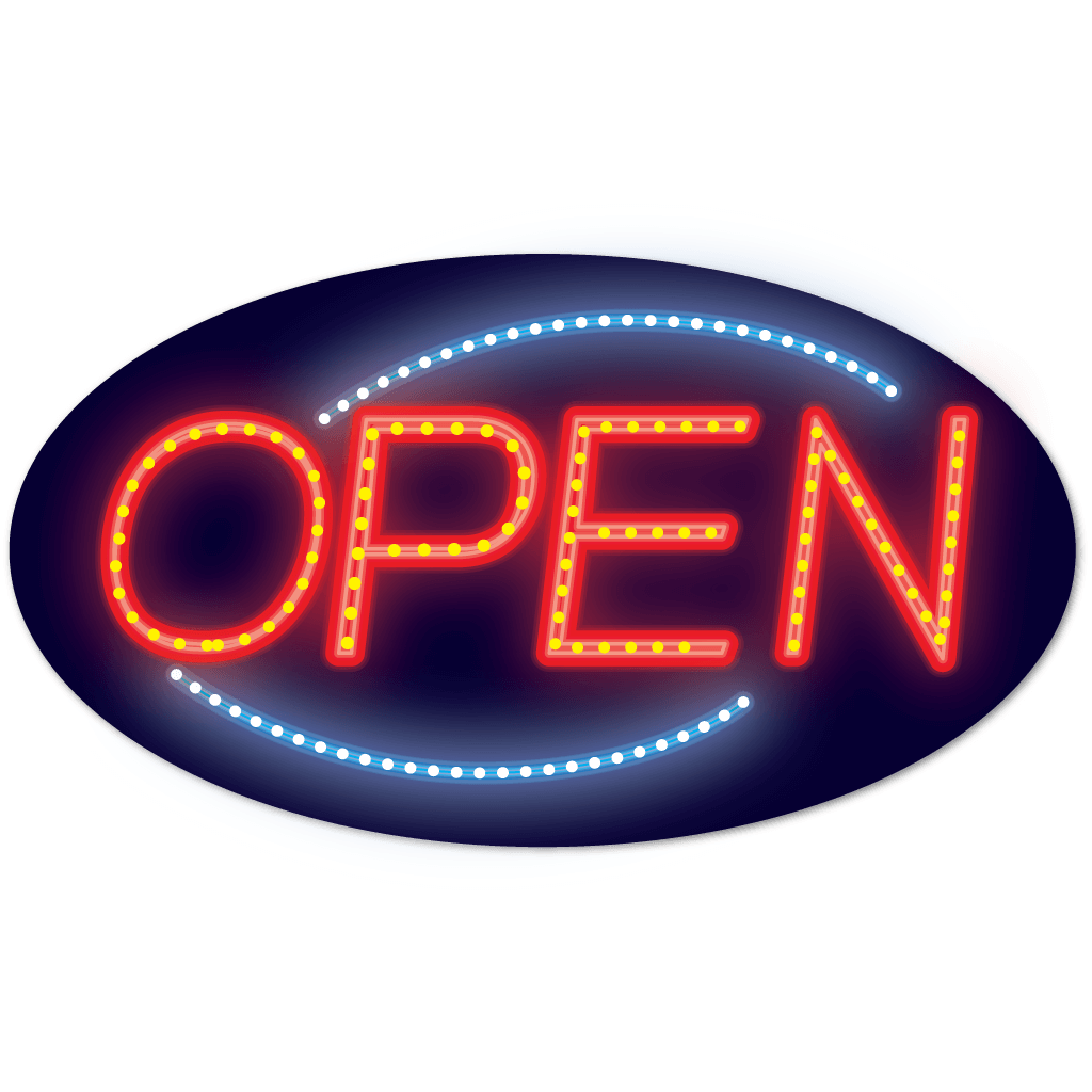LED Oval Open Sign.
