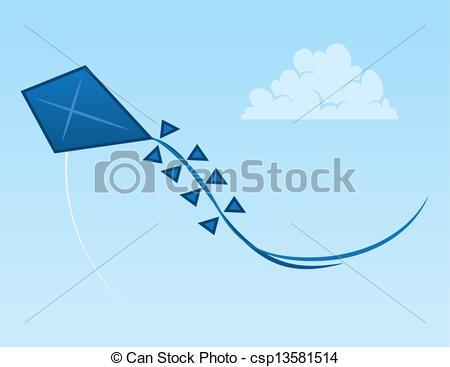 Vector Clip Art of Kite Sky.