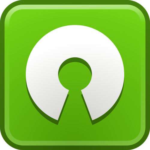 Vector clip art of open source computer icon.