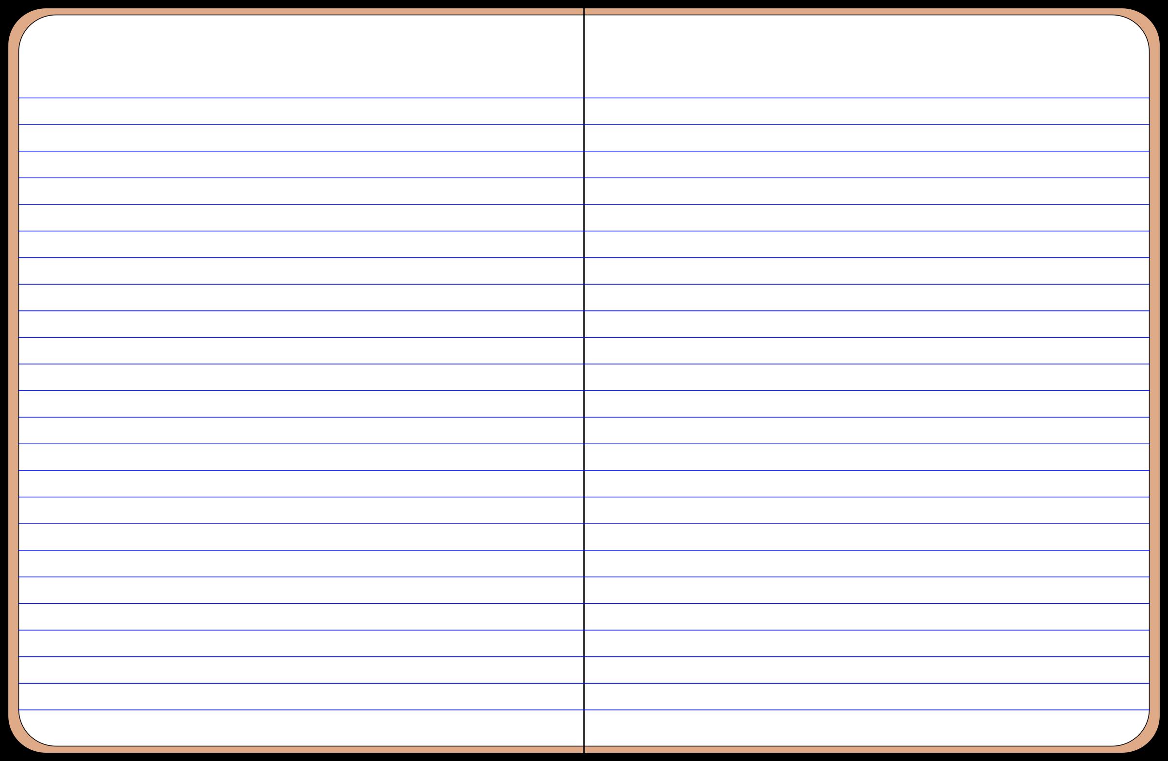 Open Notebook Clipart.