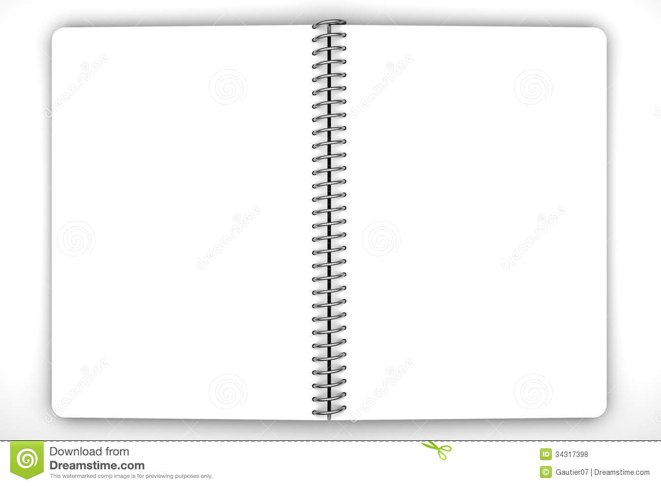 Open Your Notebook Clipart.
