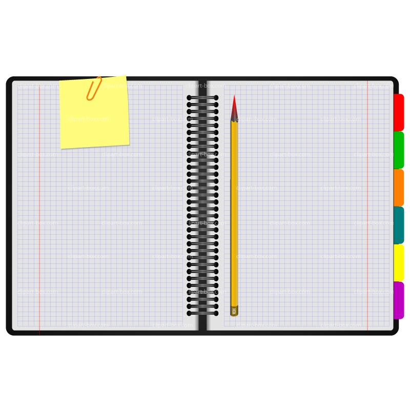 Open Math Notebook Clipart.