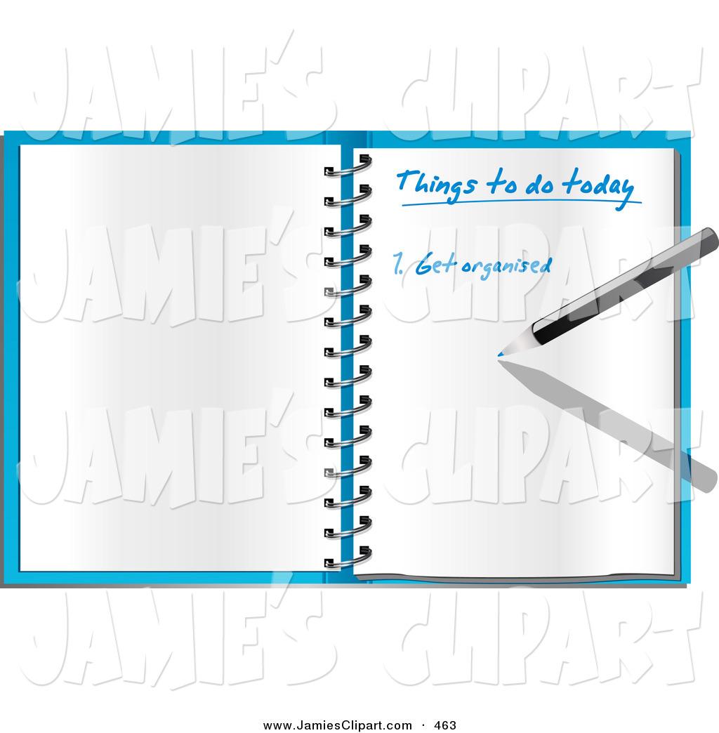 Clip Art of a Pen Writing an Organized to Do List in an Open.