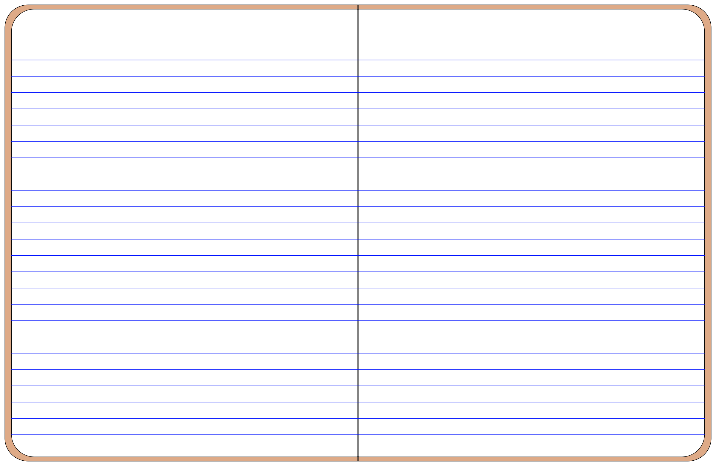 Open Spiral Notebook Clipart.