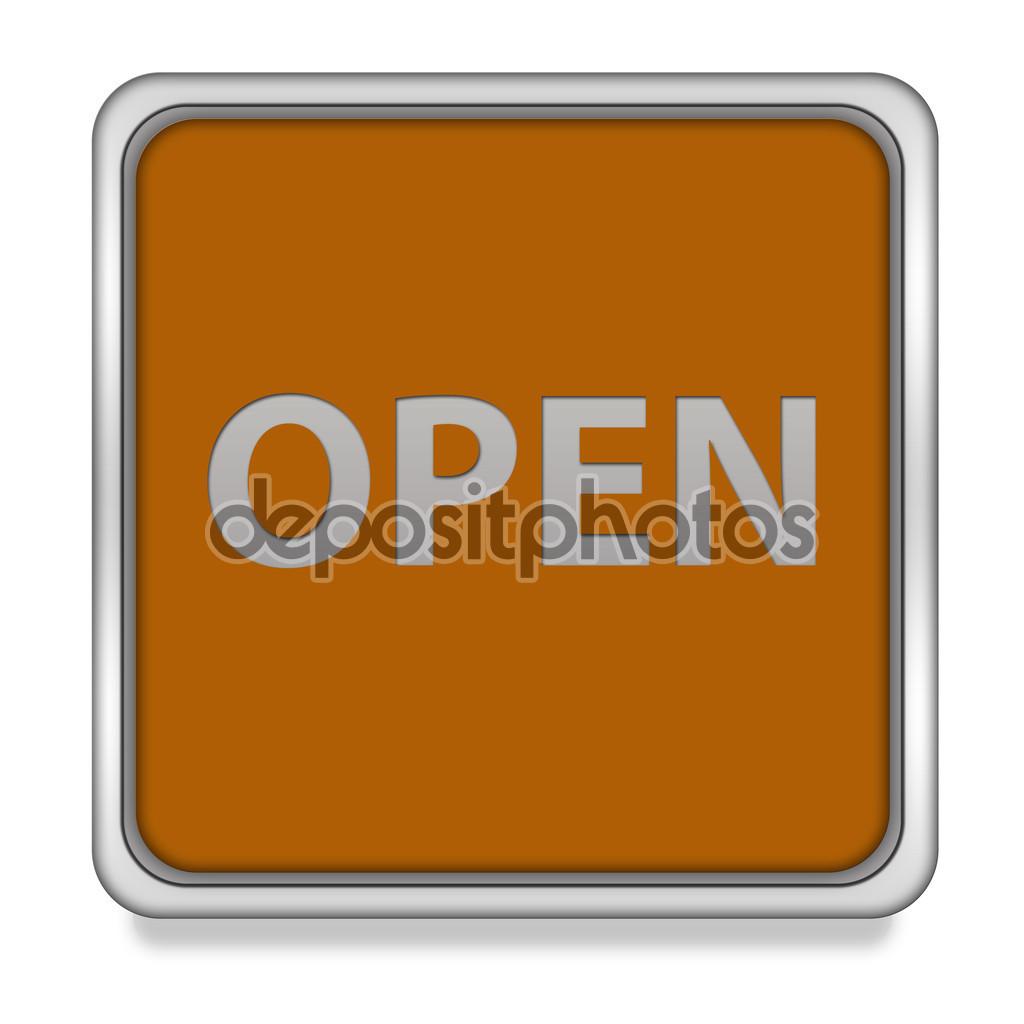 Open square icon on white background — Stock Photo © iconsmaker.