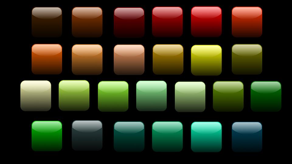 Free photo Icon Colorful Square Shiny Button.