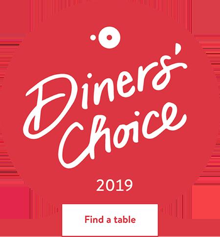 OpenTable Diner\'s Choice Winner 2019!.