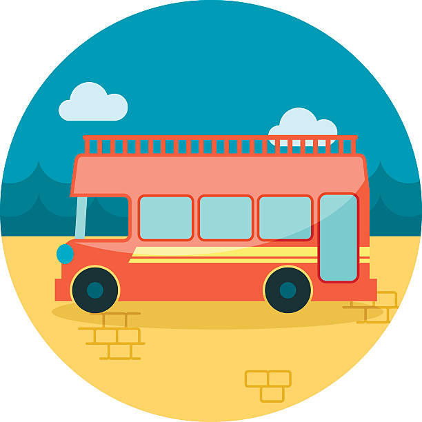 Double Bus Clip Art, Vector Images & Illustrations.