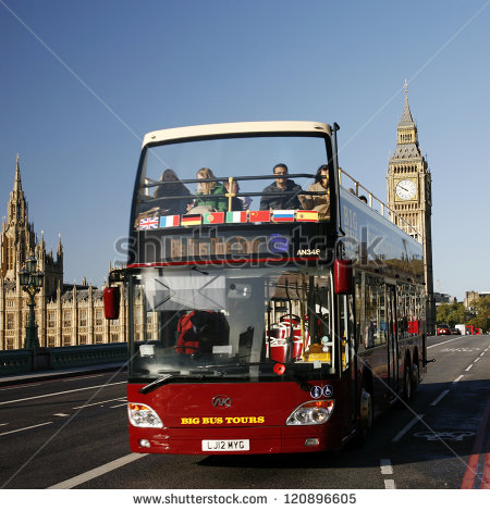 Tour Bus Stock Images, Royalty.