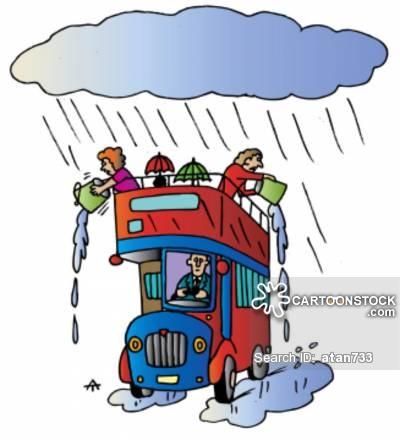 Open Top Bus Cartoons and Comics.