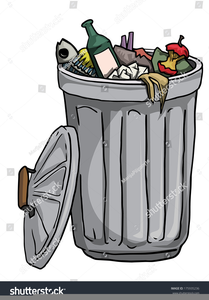 Open Trash Can Clipart.