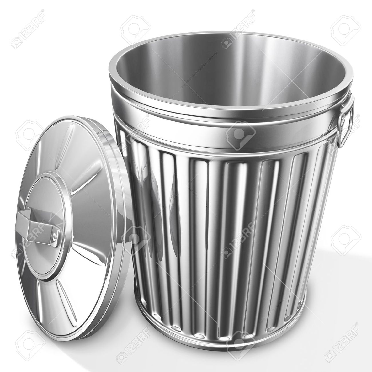 Empty Garbage Can Clipart.