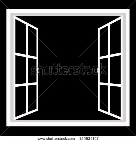 Open Window Frame Stock Images, Royalty.