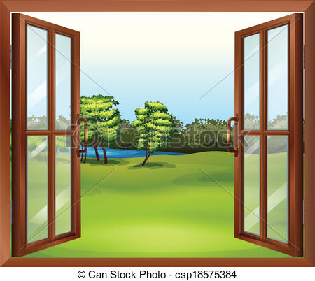 Open the window clipart.