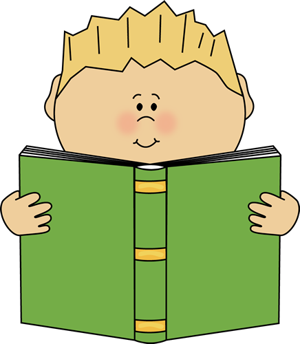Boy reading a book from MyCuteGraphics.