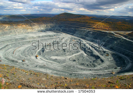 Opencast Mining Stock Photos, Royalty.
