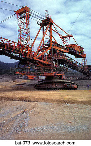 Stock Photo of Open Cast Coal Mining bui.
