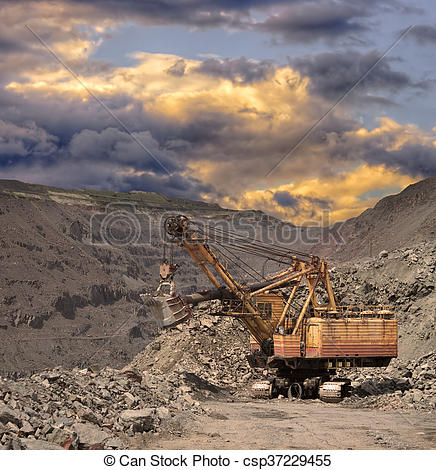 Stock Images of Iron ore opencast.