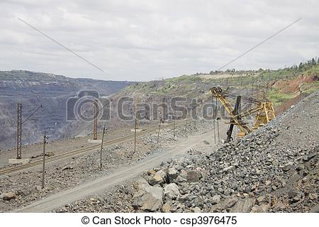 Stock Images of Opencast mining.
