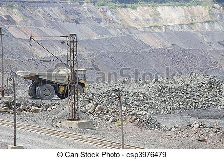 Stock Photographs of Opencast mining.