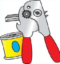 Can Opener Clipart.