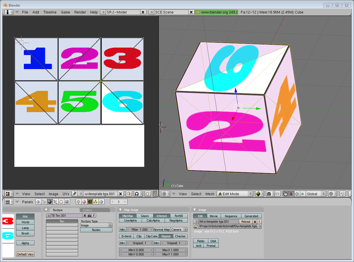 Tutorial 5 : A Textured Cube.
