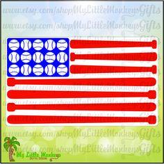 Wood baseball bat American flag. 30 inch bats.