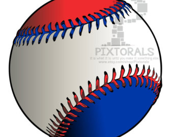 Baseball with Flag! PNG (Transparent backgrounds) , EPS file.