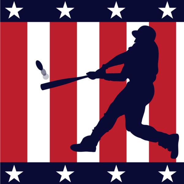 American baseball clipart.