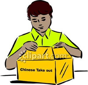 Box with opening clipart.