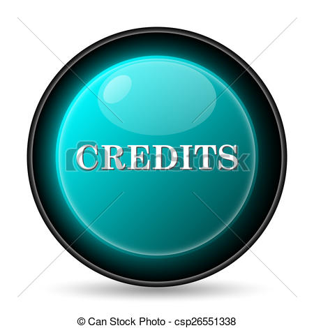 Drawings of Credits icon. Internet button on white background.