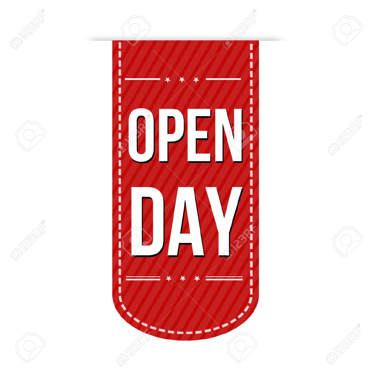 Open Day Banner Design Over A White Background, Vector.