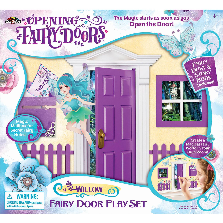 Opening Fairy Door, Purple.