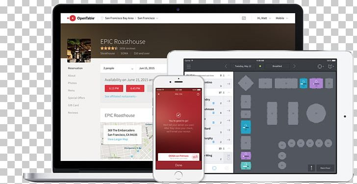 OpenTable Computer Software Restaurant Management PNG.