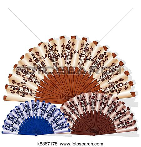 Clip Art of Openwork handmade fan k5867178.