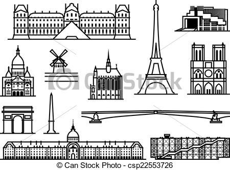 Vector Illustration of Paris monuments.