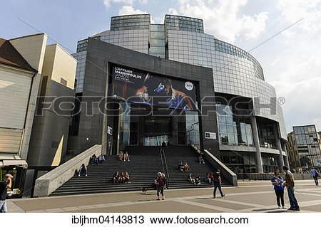 Stock Photo of Opera Bastille, Place de la Bastille, Paris, France.