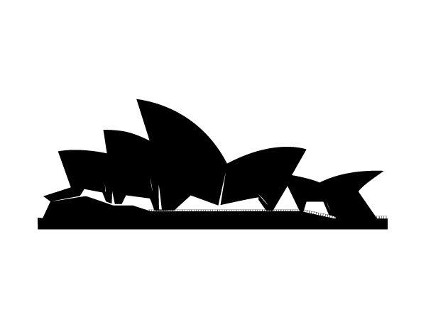 sydney opera house vector.