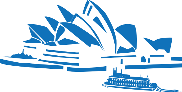 Australia opera house clipart.