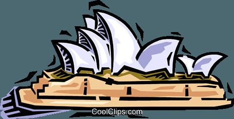 Sydney Opera House Royalty Free Vector Clip Art illustration.