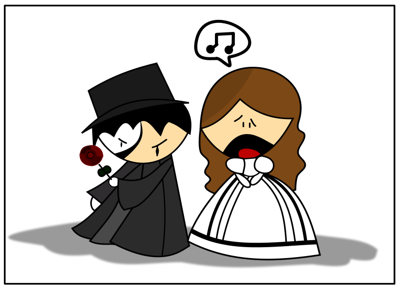 Free Clipart: The Phantom of The Opera.