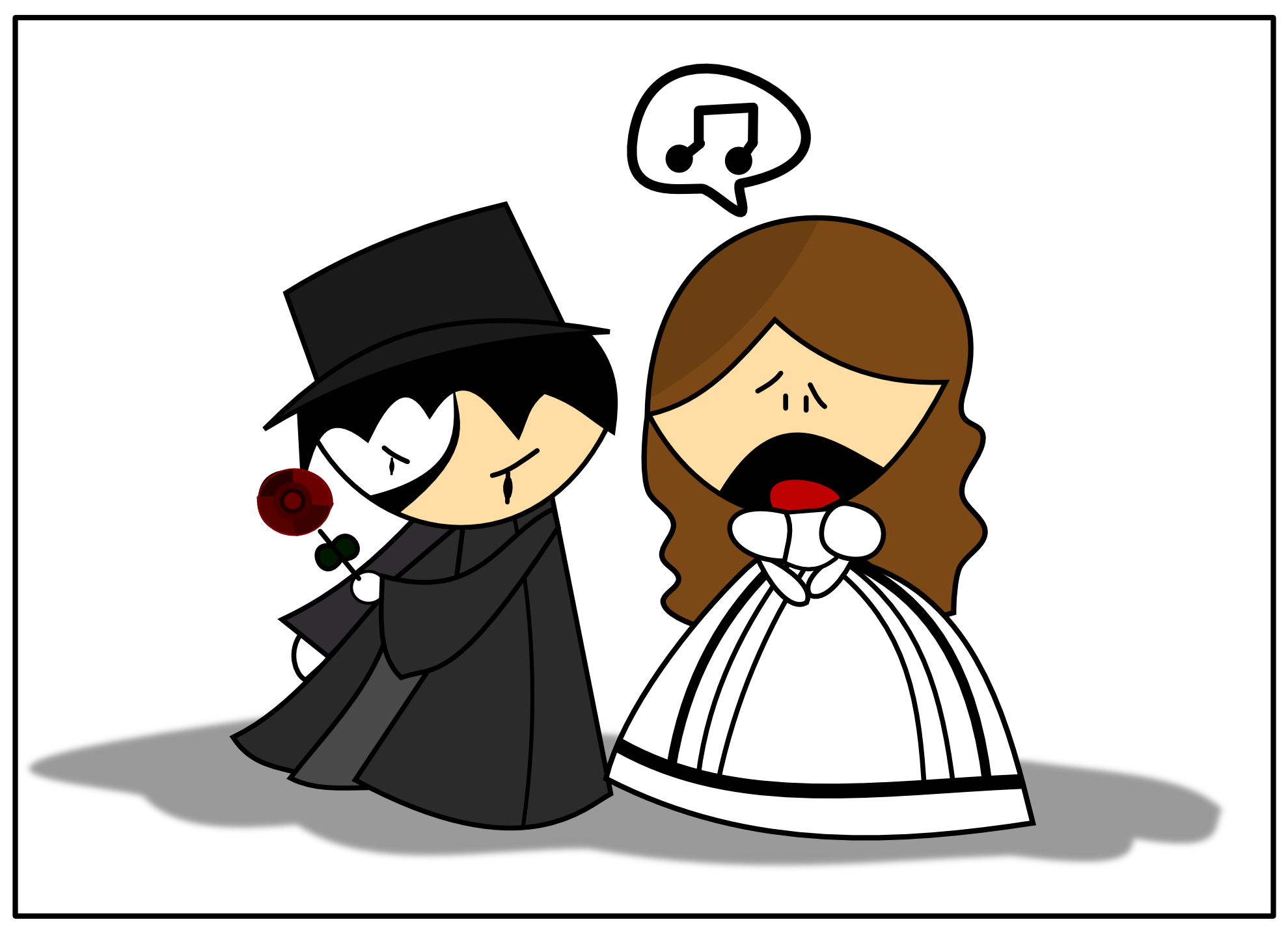 Phantom of the opera clipart free.