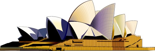 Mini opera house clipart.