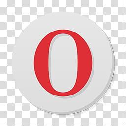 Numix Circle For Windows, opera icon transparent background.